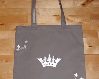 "Tote bag ""wreath and Star Silver"""