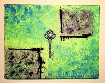 Old Keys Won't Open New Doors | 11x14 Canvas Painting | SoulfullySavage