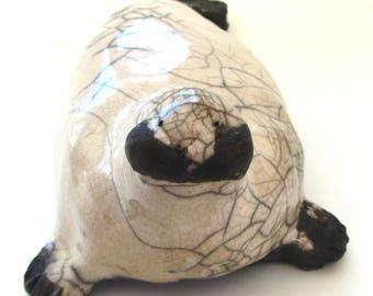 Seal Raku Sculpture