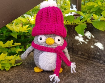 Dixie the Penguin crocheted toy