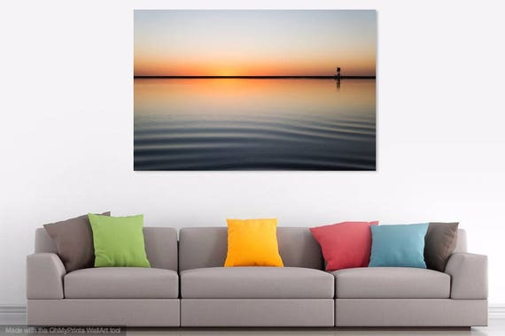 SUNRISE AND RIPPLES. Seascape Print, Sunrise over Water, Fuerteventura, Travel Photography, Limited Edition Print