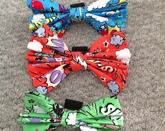 Super hero bow for dog collar