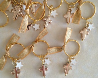 20 pcs Martyrika-Key Chain-Favors-Greek Orthodox Baptism