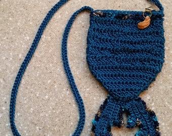 Gifts for Her Mermaid Purse Mermaid Tail Bag crochet teal bag blue purse blue bag