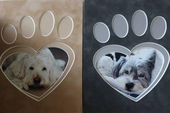 "8 x 10 Paw Print Photo Mat - ""Puppy Love"""