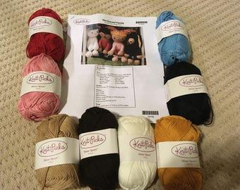 4 Knit Toy Kit (yarn & pattern) - The Gurumi Family by Knit Picks