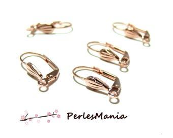 10pcs earring stud earring shell ID27376, DIY ROSE gold