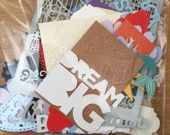 Die cut shapes for cardmaking, scrapbooking die cuts, journaling, school holiday fun, cut outs for greetings cards, cardmaking supplies