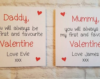 Personalised Valentines Card, Mummy, Daddy, Valentines Day Card