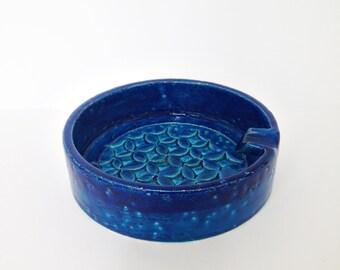 Mid century Ceramic ashtray REF.  BITOSSI Rimini Blu - Spagnolo - Aldo Londi - 1960s
