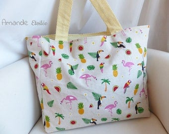 "For the summer by Amande Etoilée ""Mojito"", the original version sunny tote bag"
