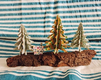 Table decor - cottage in the forest miniature