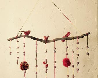 Origami mobile to decorate kids room