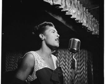 ON SALE Billie Holiday - New York City, ca.1947 - William Gottlieb - Photo - Portrait - Art - Print - Vintage - Music - Jazz - Photograph -