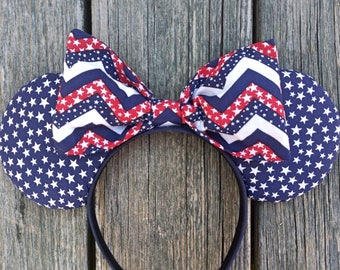 Stars and Chevron Mouse Ears