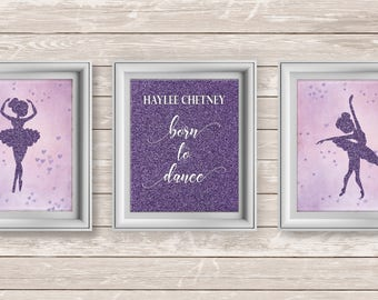Ballet Print, Personalized Dance Prints, Dancer Lovers Print, Ballet Dancer, Ballet Dancer Prints, Ballet Nursery Decor, Girls Room Decor