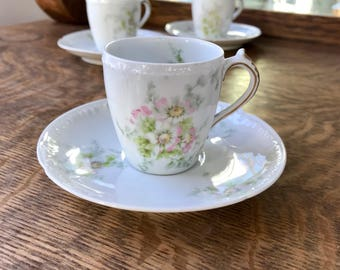 Haviland Limoges Espresso Cups and Saucers