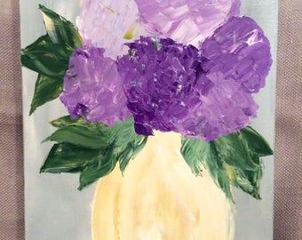 Original Purple Hydrangea Painting