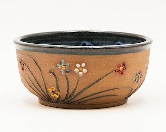 Flower Soup & Salad Bowl | Cereal Bowl | Serving Bowl | Pottery | Ceramic | Stoneware | Pottery Bowl | Ceramic Bowl | Stoneware Bowl