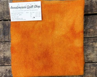 Hand-dyed Wool Fat Quarter -- FQ12344 -- Carrottop Orange