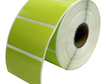 "1 Roll 1000 GREEN Labels per Roll, Zebra Eltron Compatible Direct Thermal 2.25 x 1.25 GREEN Labels (2-1/4"" x 1-1/4"") -- BPA Free!"