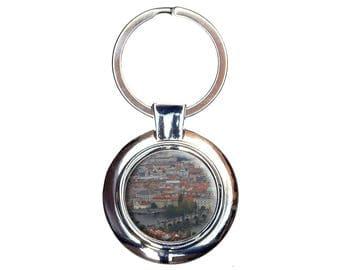 Charles Bridge Prague Keychain Key Ring