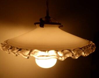 Vintage French Ceiling Light, Coolie Shade light Fitting, Vintage Lighting 0318003-546