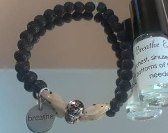 Aromatherapy Lavender Infused Beaded bracelet