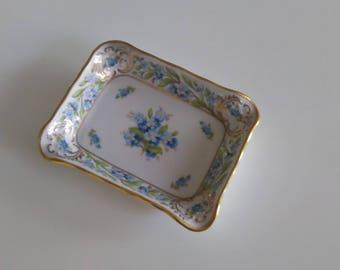 Ashtray with blue flowers/Vintage ashtray/Ashtray Bavaria