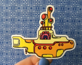 The Beatles, Yellow Submarine, High Quality Vinyl Sticker