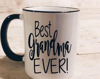 best grandma ever mug | best grandpa ever mug