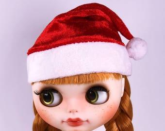 A047 Blythe Barbie Momoko BJD 1/6 Scale Doll Christmas Hat Doll Hat