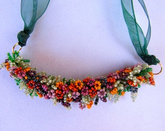 Spring Flowers After the Rain - Necklace