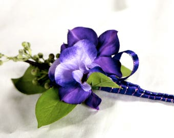 Purple Hydrangea Boutonniere, Purple Lapel Pin, Wedding Boutonniere, Hydrangea Boutonniere, Grooms Tux Lapel Pin, Groomsmen Boutonniere