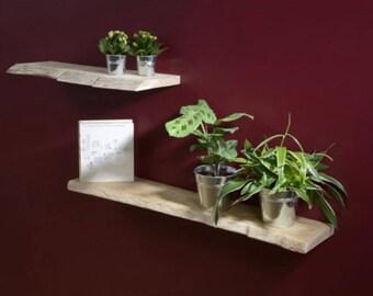 Natural solid oak shelf