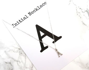 Initial necklace, personalized initial necklace, initial jewelry, letter necklace, name necklace, minimalist dainty custom necklace