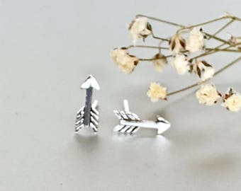 Silver Rocket Ear Studs, Rocket Earrings, Minimalist Silver Ear Studs, Gifts For Her, Dainty Earrings, Bohemian Ear Studs (179)