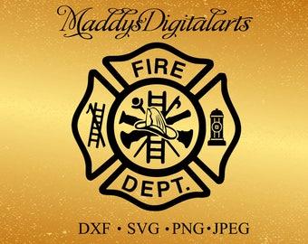 Maltese Cross SVG- Fire Dept logo -Firemen - svg, dxf, Jpg , png, - Download - Cut File, Clipart - Cricut Explorer - Silhouette Cameo