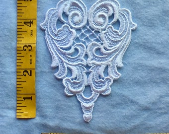 Vintage White Venise Lace Applique,  Bridal, Crafts, Lace Applique, Wedding Lace
