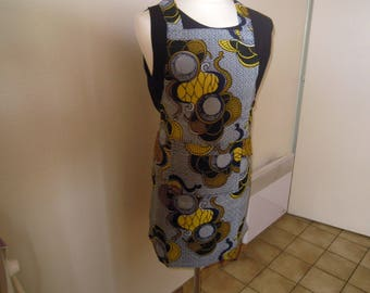 real wax block fabric apron