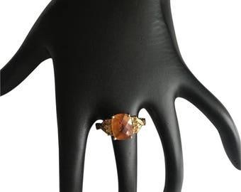 10k Citrine ring