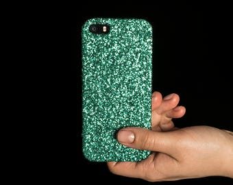 Glitter Case for iPhone 4, 5/5S/SE, 6/6S Plus, 7 Plus, Samsung A3, S6, S7 Edge, S8 Plus and Google Pixel XL - Mint