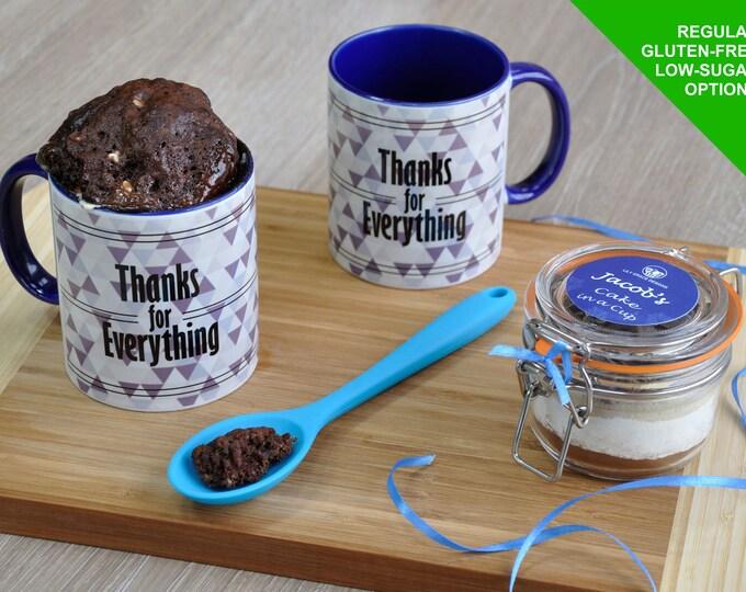 Thanks gift, thanks best man, thankyou gift, sweet tooth, thankyou best man, thanks mug cake, thankyou baking kit, thankyou man, chocolate