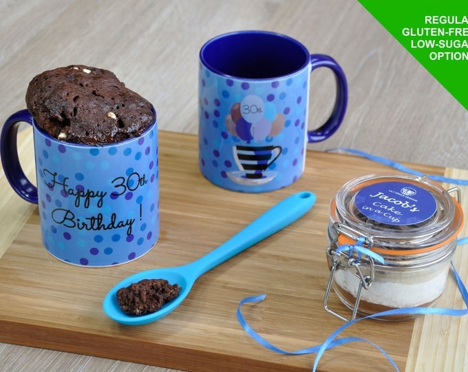 30th cake, his birthday, dads birthday, birthday cake, 30th birthday gift, spotty mug, birthday mug, brothers birthday, 30th birthday him,