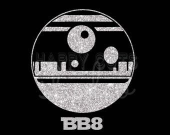 Star Wars BB8 in Silver Glitter Vinyl Matching Mom Daughter Women's  Family Disney Vacation Iron On Decal Vinyl for Shirt 042