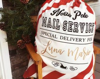 Personalized Santa Sacks | Customized Santa Bags | Special Delivery Sacks | Canvas Santa Sacks | Christmas Decor