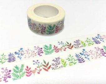 Gardening planner washi tape 7m abstract plant colorful leaf cute plant gardening Masking tape plant diary garden planner sticker scrapbook