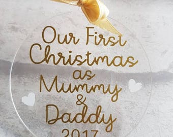 First Christmas As Mummy And Daddy Bauble
