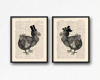 Dodo Bird Poster, Couples Gift Poster, Funny Girlfriend Art, Funny Wedding Art, Funny Dorm Decor, Gift for Her 30th, Funny Wife Gift, S37