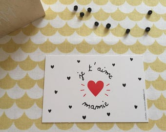 """Mini card"" I love""Grandma"""